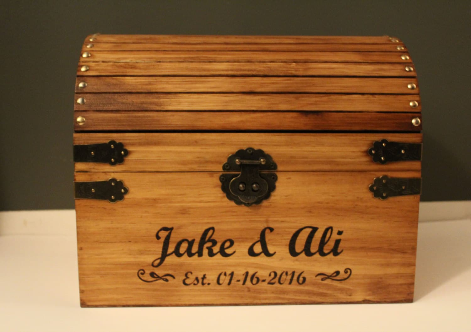 Extra Large Wedding Gift Box : Extra Large Wedding Favor display box hand burnt details