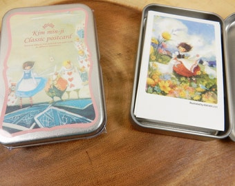 Alice In Wonderland Postcards, Wizard of Oz Postcards, Notelets, Fantasy Notelets, Dorothy and Toto