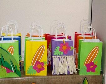 Hawaiian favor bags Set of 12