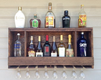 NEW: UNIQUE Three Shadowbox Distressed Liquor Cabinet W/Lighting Options. Pictured Is Finished Distressed Option (FD) Price 129 95