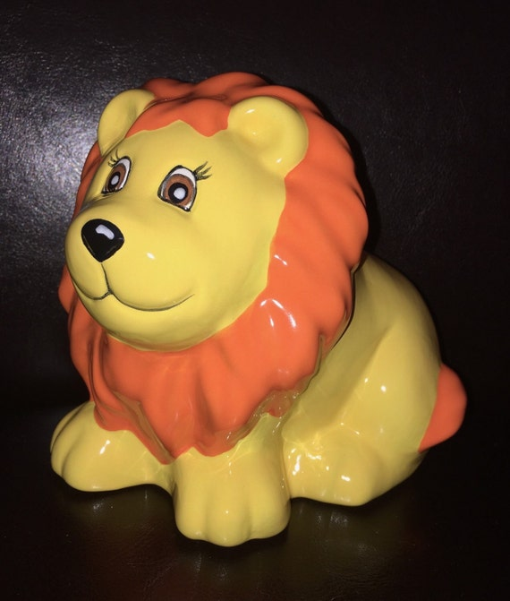 Baby Gift Piggy Bank : Lion piggy bank personalized baby gift piggybank by