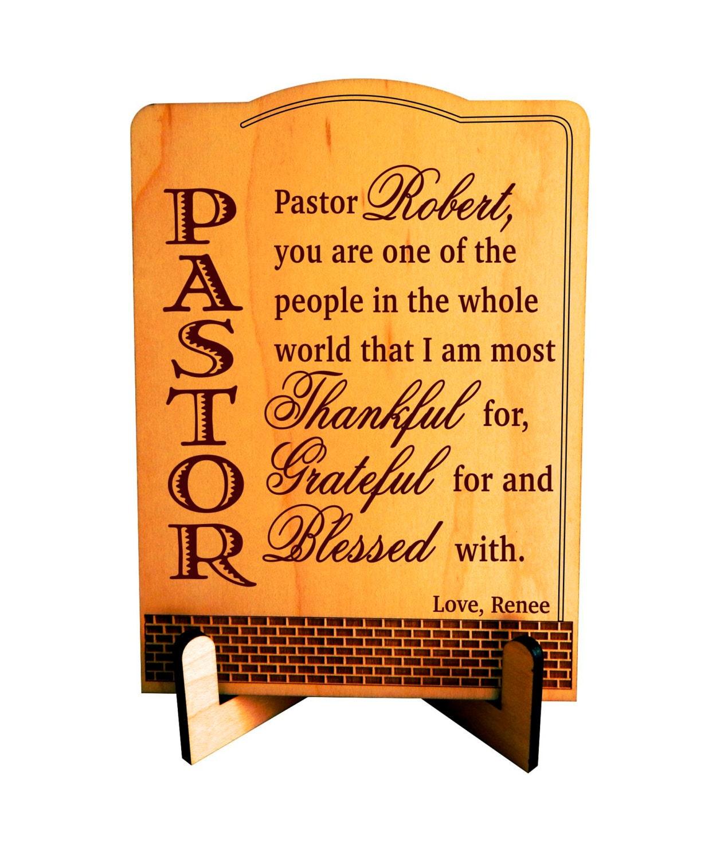 Pastor Appreciation Gift Pastor Thanksgiving Gift Custom