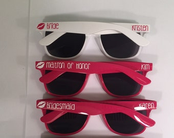 Personalized Bachelorette Sunglasses