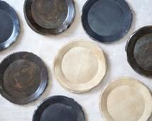 Ceramic Plate,Cake Plates,Stoneware plate,Dessert Plate,Salad Plate,Dark Blue Plate,Ceramic Hand Made Plate,Gift For Her