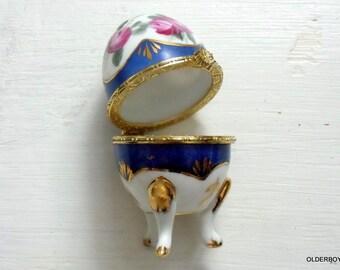 Vtg Easter Egg Porcelain egg opened egg jewelry egg box treasury box decor egg collectible egg porcelain box porcelain trinket egg F03/165