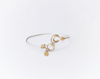 Minimalist Gold and Silver Handmade Bracelet