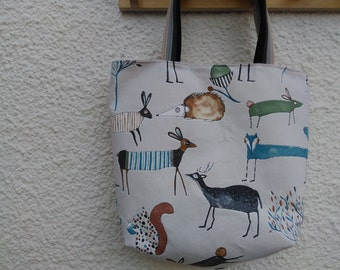 Animal cotton Tote bag