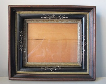 Antique Eastlake Shadow Box 4 Part Frame with Glass