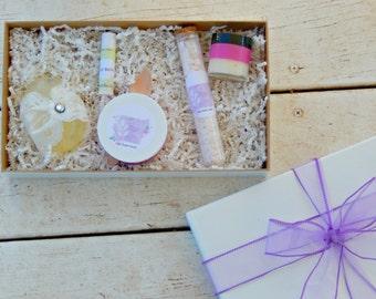 Spa Subscription Box - Lilac Spa Gift - Subscription Box - Monthly Subscription Box - Spa Kit - Spa Gift Box - Vegan Spa Box