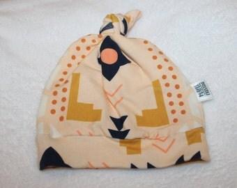 SALE Geo Knit Knotted Newborn Hat