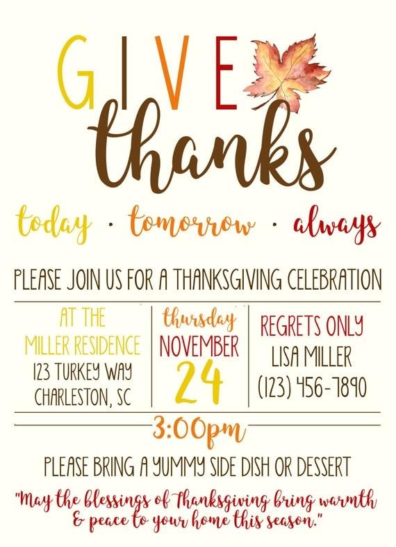 thanksgiving-dinner-einladung / danksagung einladung / dinner, Einladungen