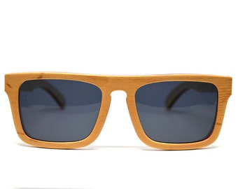 Natural Wood Sunglasses Beige Wood Skateboard Wood Recycled Skateboard Bamboo Sunglasses Eco Friendly Polarized Sunglasses Wooden Glasses