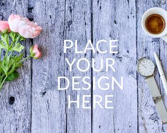 Wooden Styled Stock Photography, Wooden Styled Desk, Fashion Styled Mockup, Blog Stock Photo, Product Mockup, Stock Photography, Stock Image