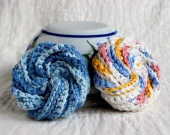 Dish scrubbies ~ Crochet dishcloths ~ Kitchen scrubbies ~ Dishcloth ~ Tawashi ~ Crochet spiral scrubbies ~ Cotton dishcloths