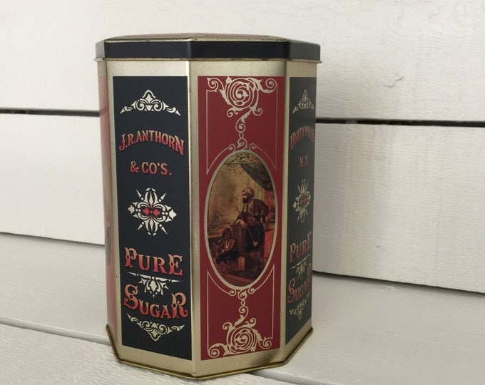 Vintage Tin Replica Harry's Grocery - Wonderful Kitchen Canister