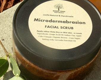 8oz Skin Renew - 100% Vegan - Sugar scrub - Microdermabrasion Scrub  -  Problem prone  - Acne -  Oily skin (8oz)