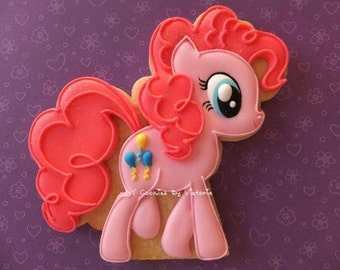12  - Pinkie Pie Cookies -  My Little Pony  -  1 Dozen