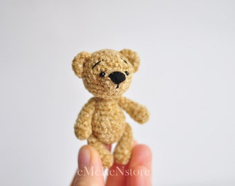 Small teddy bear- Crochet Teddy bear - Amigurumi Cutie Bear - Crochet Animal Plush - Christmas gift - Amigurumi Teddy Bear