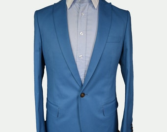 Men Suit Blue Pure New Wool/ Custom Suit