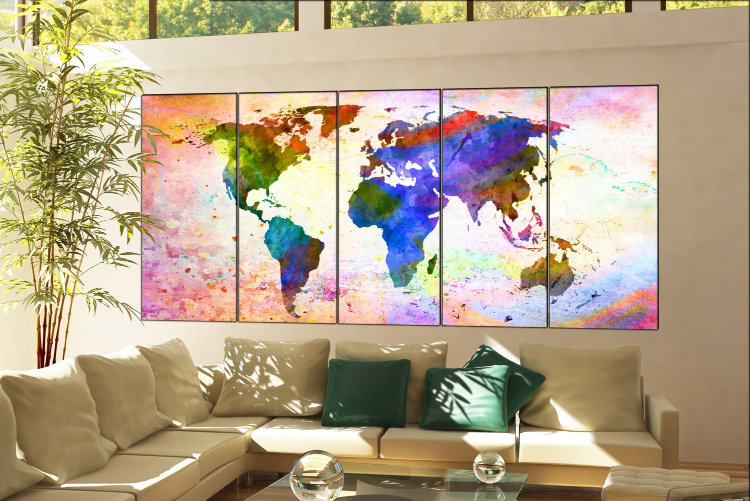 wall art world map print on canvas wall art wall art world