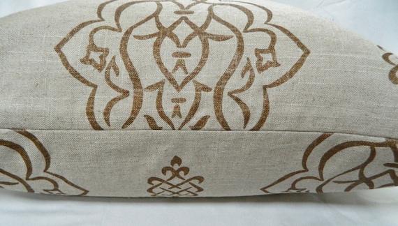 VERN YIP Furrow / Umber Decorative Throw Pillow Cover / Both