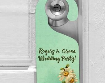 Wedding Door Hanger - Destination Wedding Favours - Do Not Disturb Sign - Wedding Favour Tags - Wedding Door Sign - Custom Door Hanger