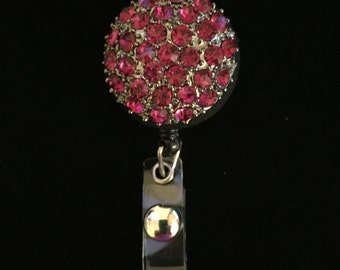Rhinestone Vintage Broach-Nurse Retractable ID Badge Reel/ RN Badge Holder/Doctor Badge Reel/Nurse Badge Holder/Nursing Student Gift
