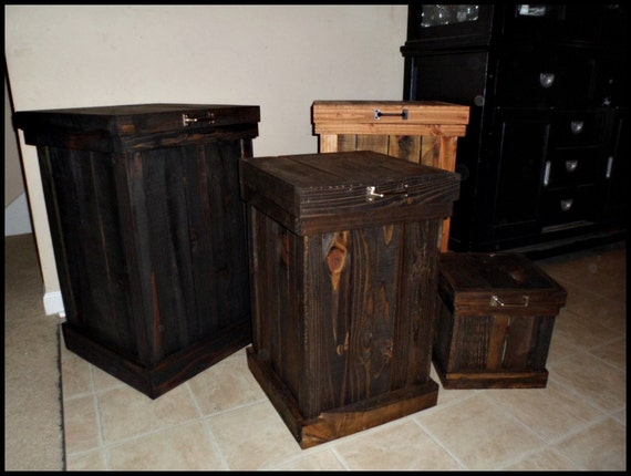 Rustic Trash Can 30 Gallon Trash Can 13 By OurTwistedCreations