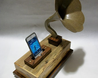 Phone-O-Graph, Gramophone, Victrola phone dock for your I.Phone & Samsung phones!!!