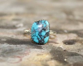 Turquoise Ring with black matrix and