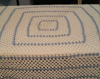 Hand crochet table cloth and doily