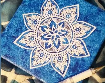 Mandala mini blue