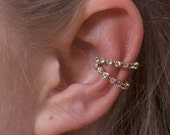Double Crystal Band - Ear Cuff