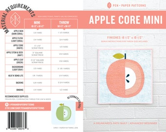 PDF Apple Core Mini Quilt Pattern