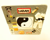 Karate Themed Photo Frame, Martial Art, Black Belt, Karate Photo Frame, Keepsake Karate, Karate Gift, Kung Fu Frame, Custom PictureFrame