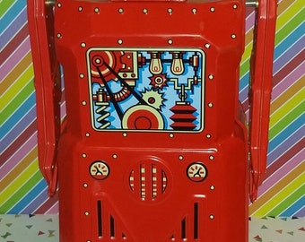 Retro Style R1 Battery Operated Red Robot by Rocket USA