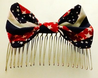 The American: Star Spangled & Sassy Hair Comb