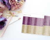SBC September Faux Glitter MDN and Heart Checklists -- Matte Planner Stickers