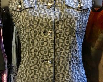 1990' Etienne Aigner monogram vest, top. Size S/M.