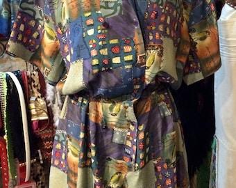 1980's short jumpsuit, shoulder pads. Size S.