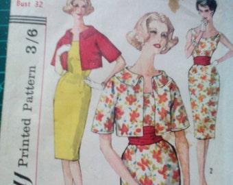 1970's Simplicity Vintage Pattern  Misses Dress 3425 (cut) Sz 12