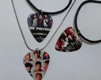 On direction guitar pick necklace/guitar pick/one direction/one direction necklace/one direction pendant/guitar necklace/one d  jewelry