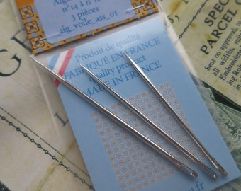 Sajou Pack of 3 Assorted Triangular Sail Needles