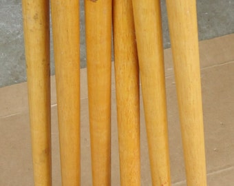 vintage Croquet set wooden mallets/heads,croquet lawn game outdoor sports replacement pieces.lot of 6