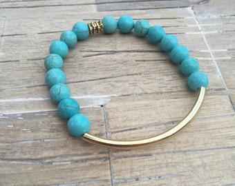 Turquoise Curve Bracelet