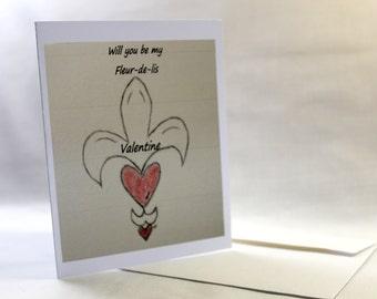 Valentine Fleur-de-lis card
