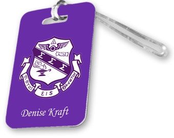 Sigma Sigma Sigma Veritcal Crest Luggage Tag