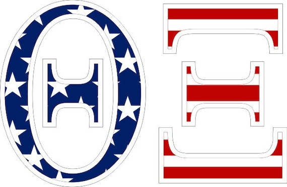 Theta xi american flag greek letter sticker 25 for Theta xi letters