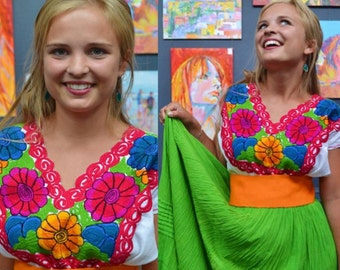 Mexican Spring Hand Made Shirt