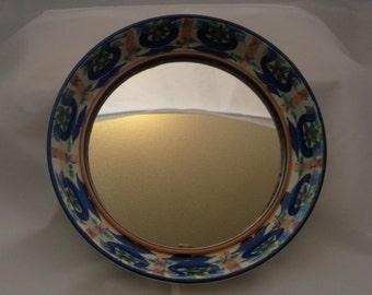 Alumina Fajance ceramic framed mirror - pattern 65A 2969. Marianne Johnson Hand-painted design. Superb 1960s Danish design.